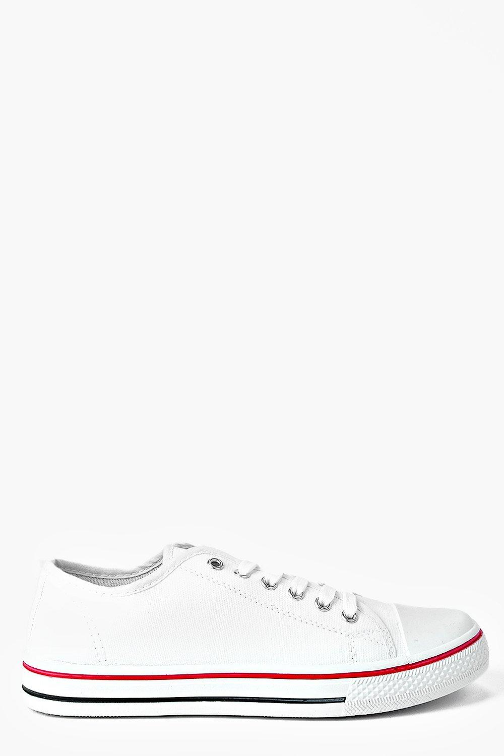 Festival Shoes Lace Up Canvas Flat Trainers