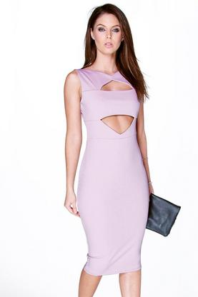 Miranda Cut Out Detail Midi Bodycon Dress