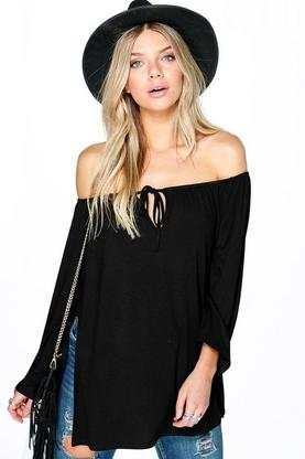 Ruby Off The Shoulder Smock Tie Top