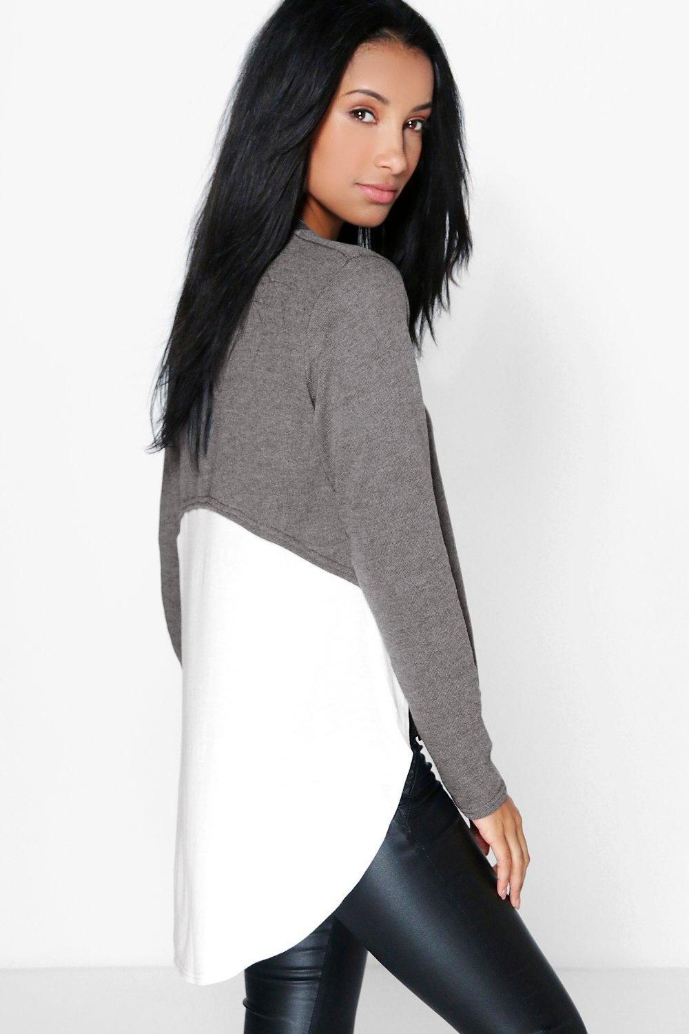 Amber 2 in 1 Long Sleeve Dipped Back Top