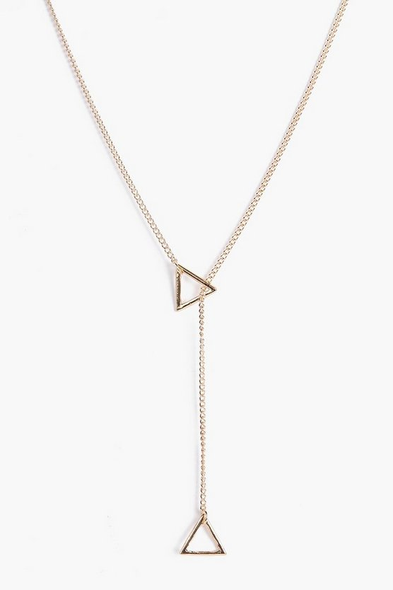 Erin Triangle Plunge Necklace