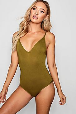 Leah Basic V Neck Strappy Body