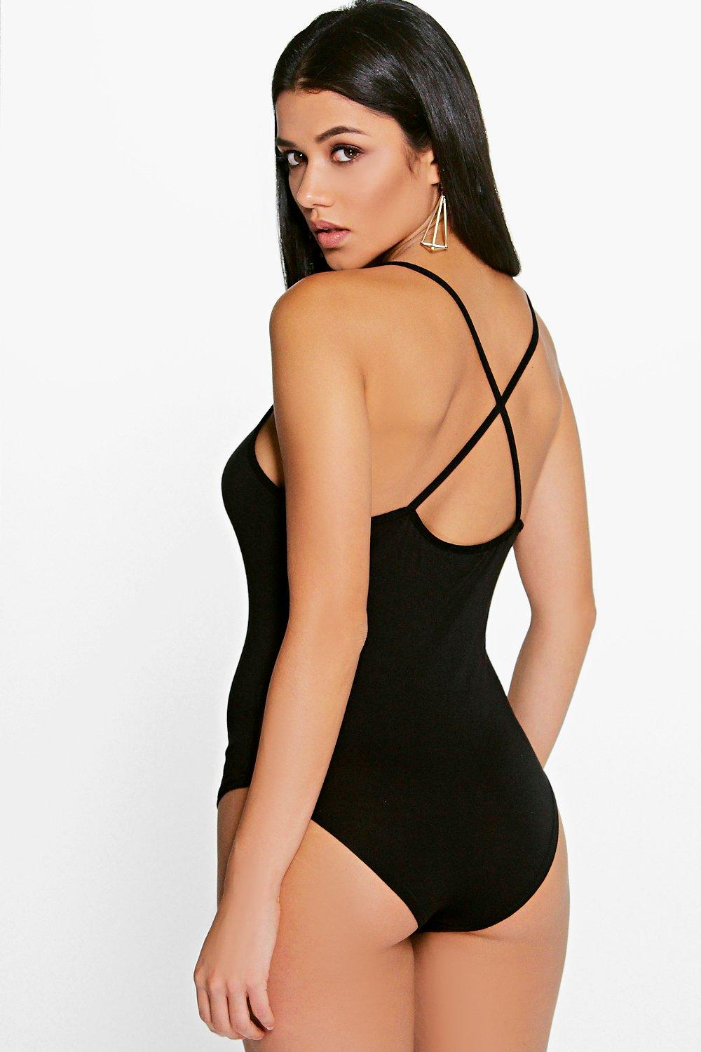 Tia Cross Back Bodysuit