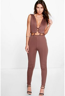 Jonna Lace Up Jumpsuit