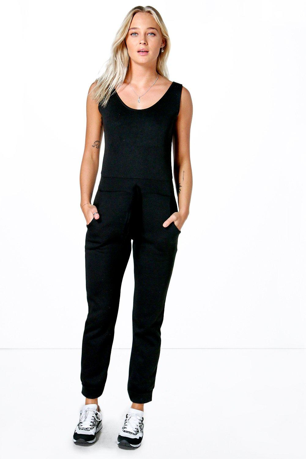 Ruby Casual Fleece Draw Cord Jogger Jumpsuit