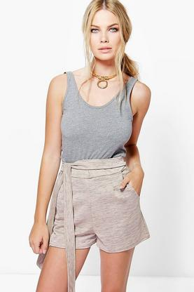 Molly Notch Tie Front Short