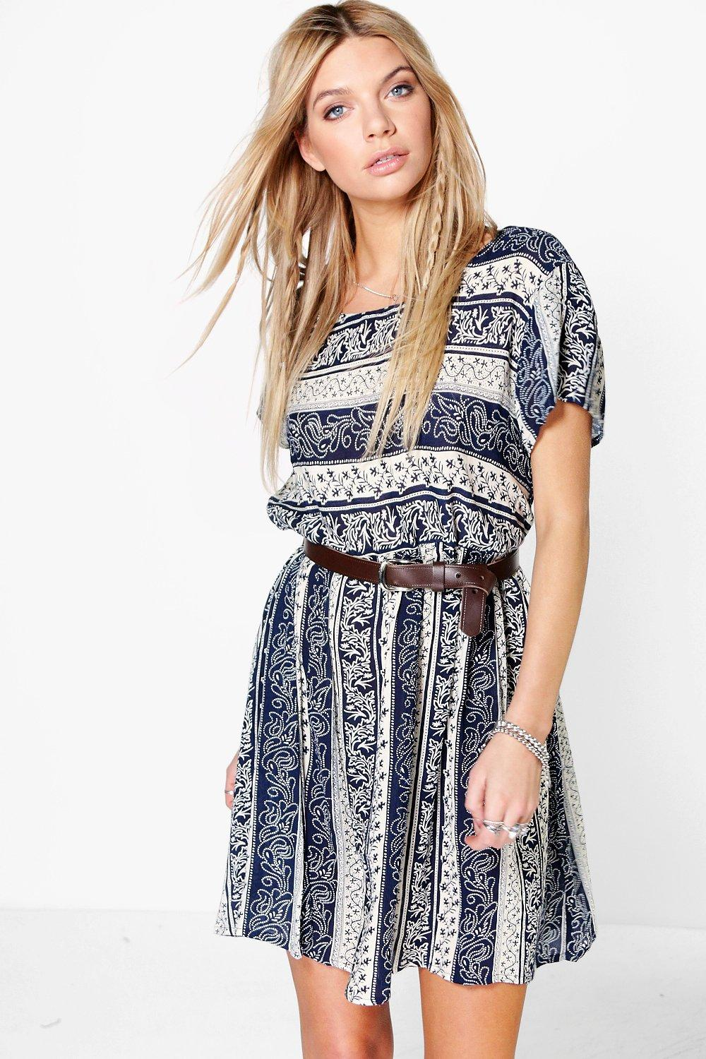 Alisha All Over Printed Smock Dress