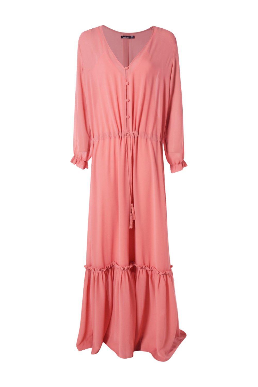 boohoo allie robe maxi boh me pour femme ebay. Black Bedroom Furniture Sets. Home Design Ideas