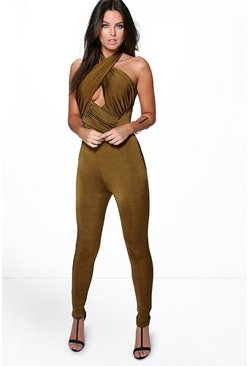 Joanna Gathered Disco Skinny Jumpsuit
