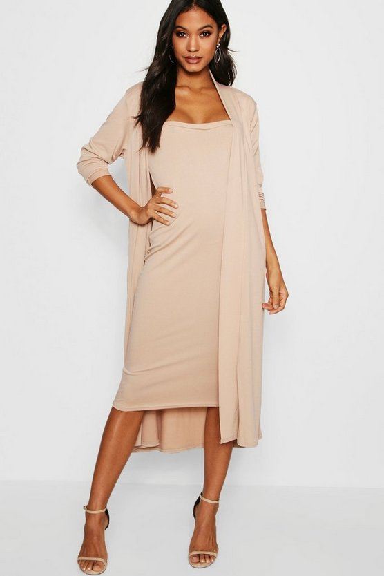 Casandra Bandeau Dress & Duster Co-Ord Set