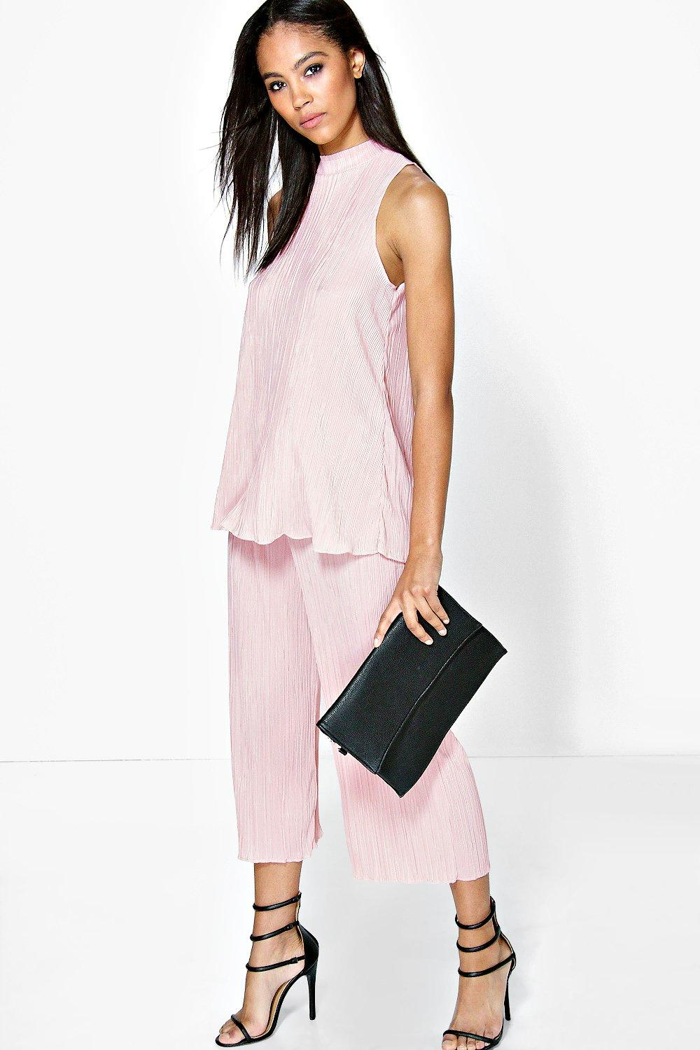 Alis High Neck Top & Pleated Culotte Co-Ord Set