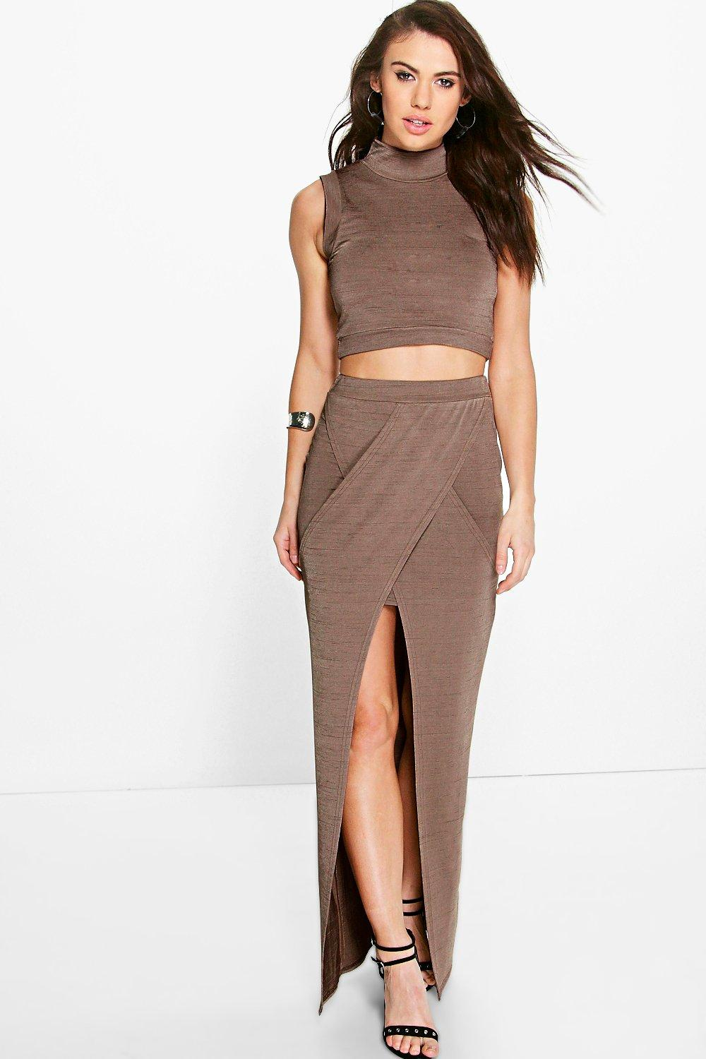 Aliah Wrap Front Maxi Skirt Co-Ord Set