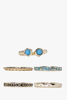 Lois Stone Detail Ring Pack
