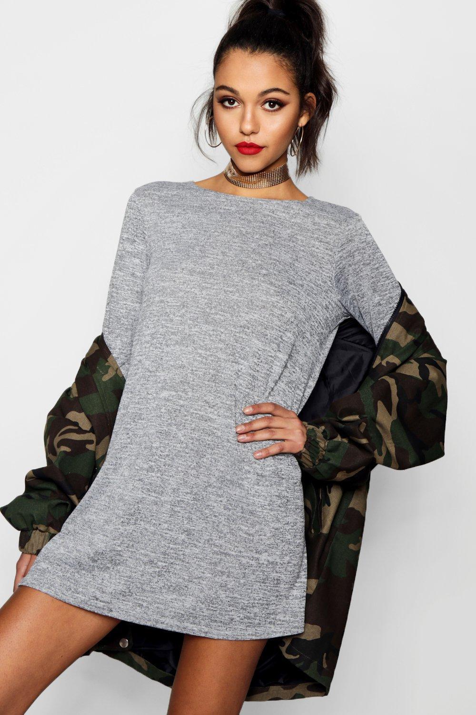 Boohoo-Womens-Jasmine-Knitted-Swing-Dress