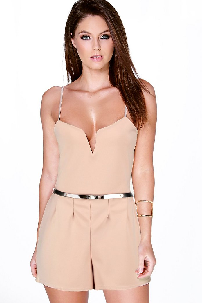 Keira Deep Plunge Strappy Playsuit