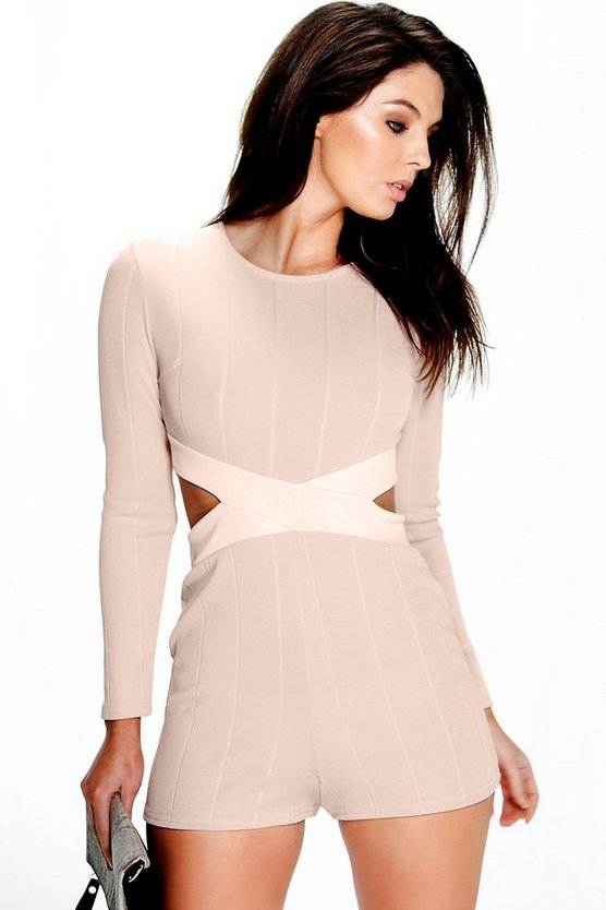 Halen Bandage Cross Front Playsuit