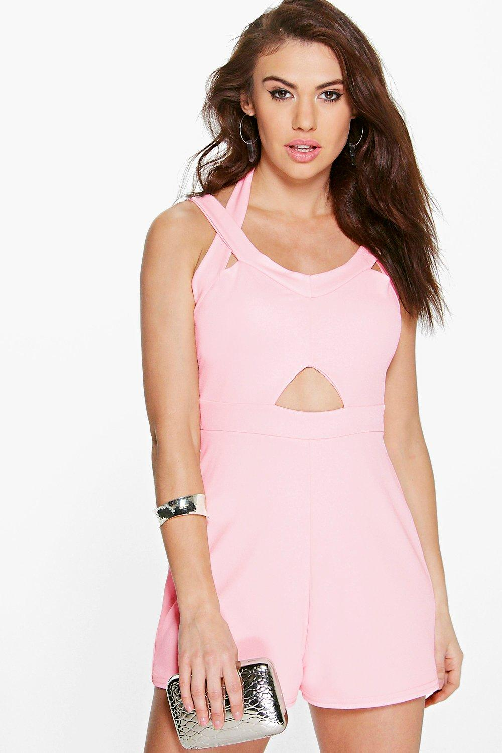 Amy Halter Neck Double Strap Playsuit