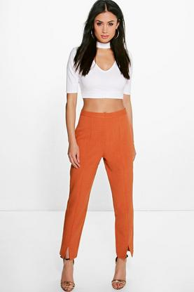 Roxane Split Front Ankle Grazer Trousers