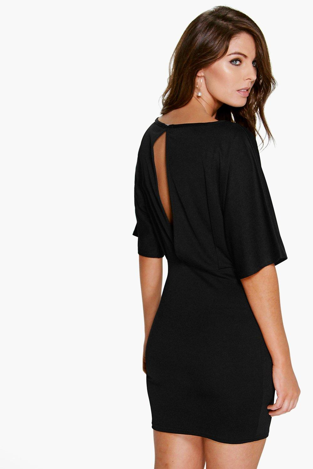 Kathy Angel Sleeve Bodycon Dress