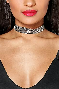 Grace Wide Chainmail Choker