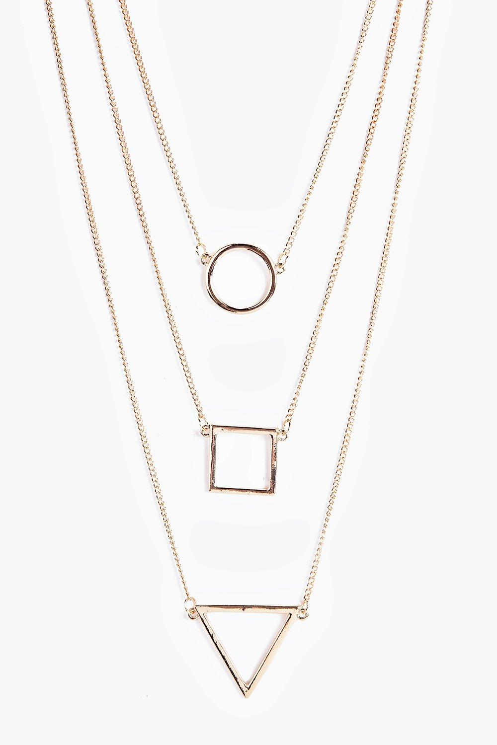 Ella Layered Shape Necklace