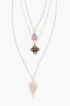 Heidi Layered Crystal Pendant Necklace