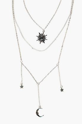 Ava Sun Moon And Star Layered Necklace