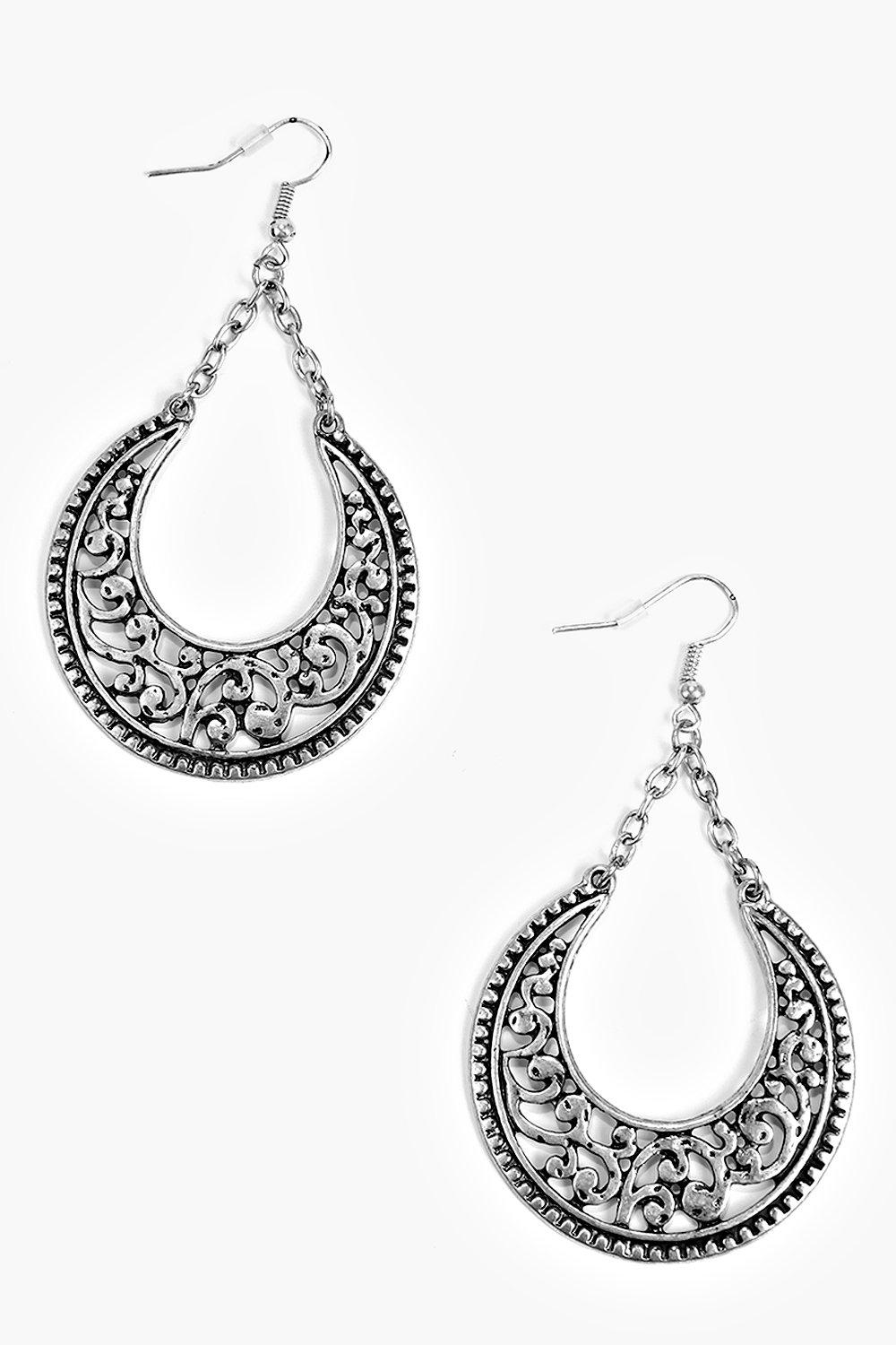 Grace Engraved Hoop Earrings