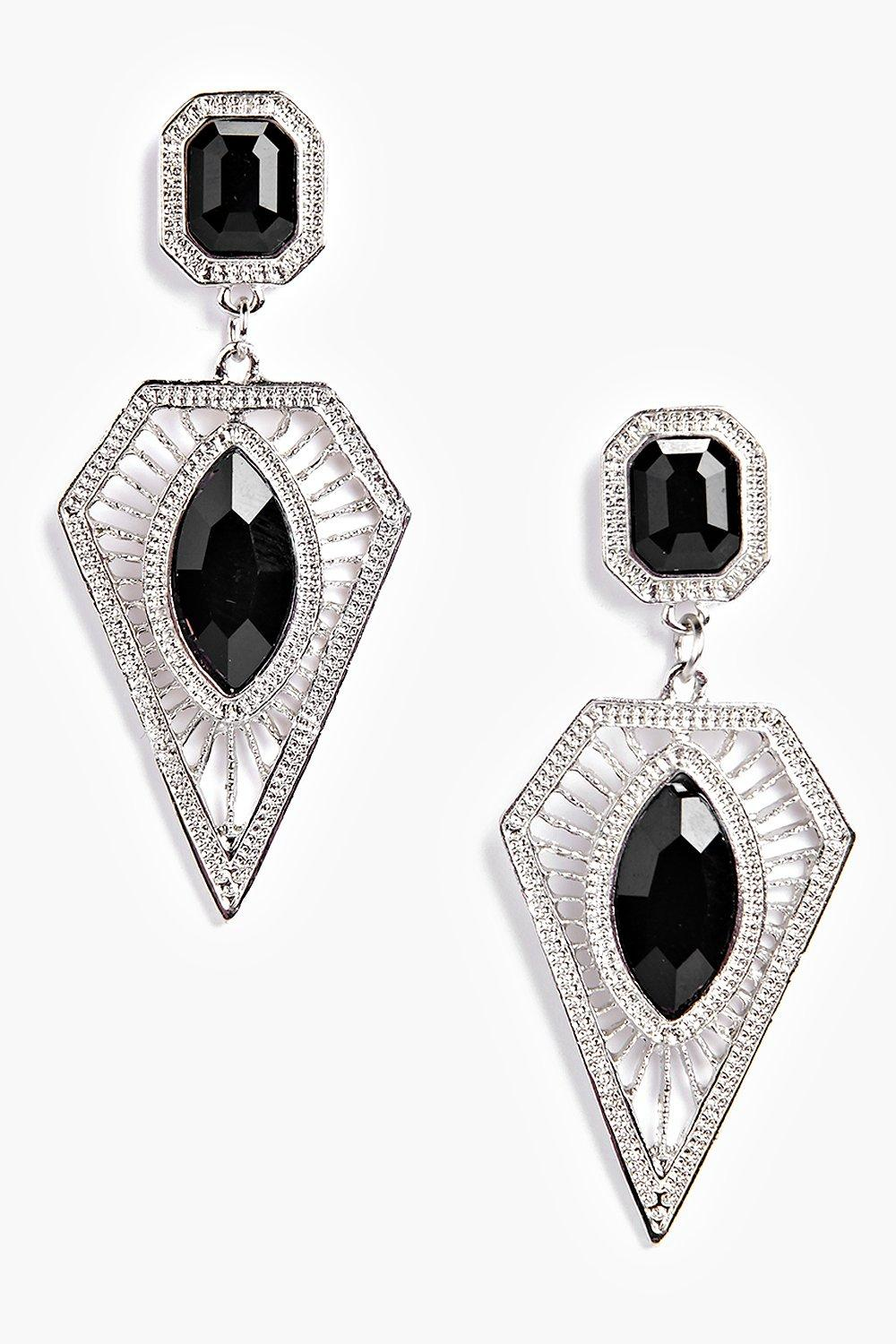 Amy Statement Stone Detail Earrings