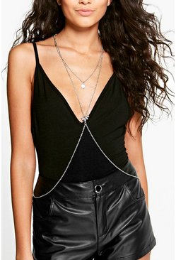 Alice Embellished Layered Body Chain