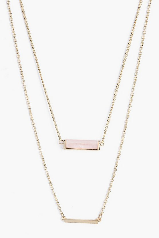 Lizzie Double Layered Crystal Necklace