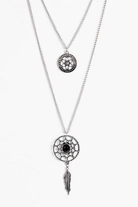 Robyn Layered Dreamcatcher Necklace