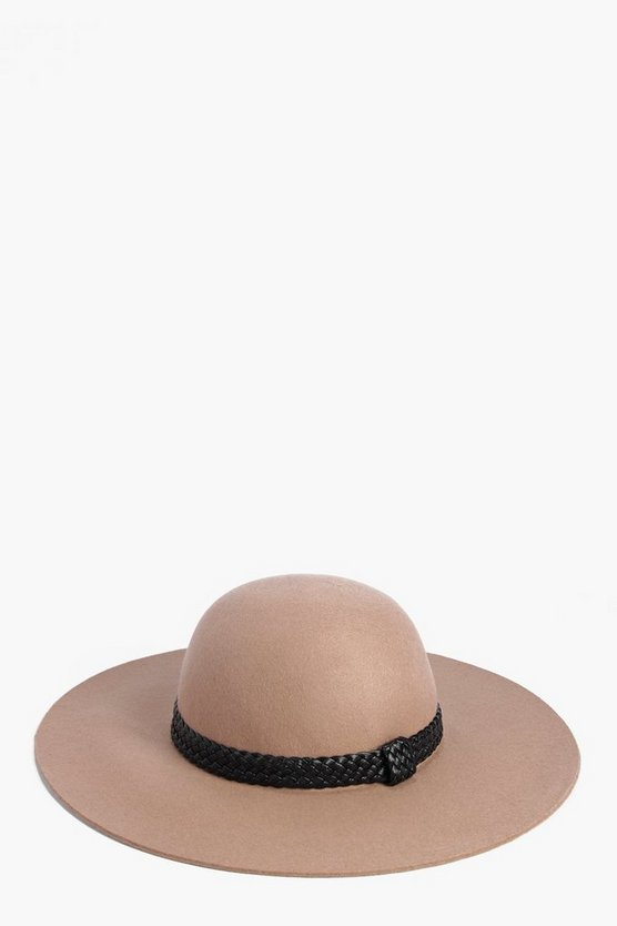 Ava Belt Trim Wool Floppy Hat