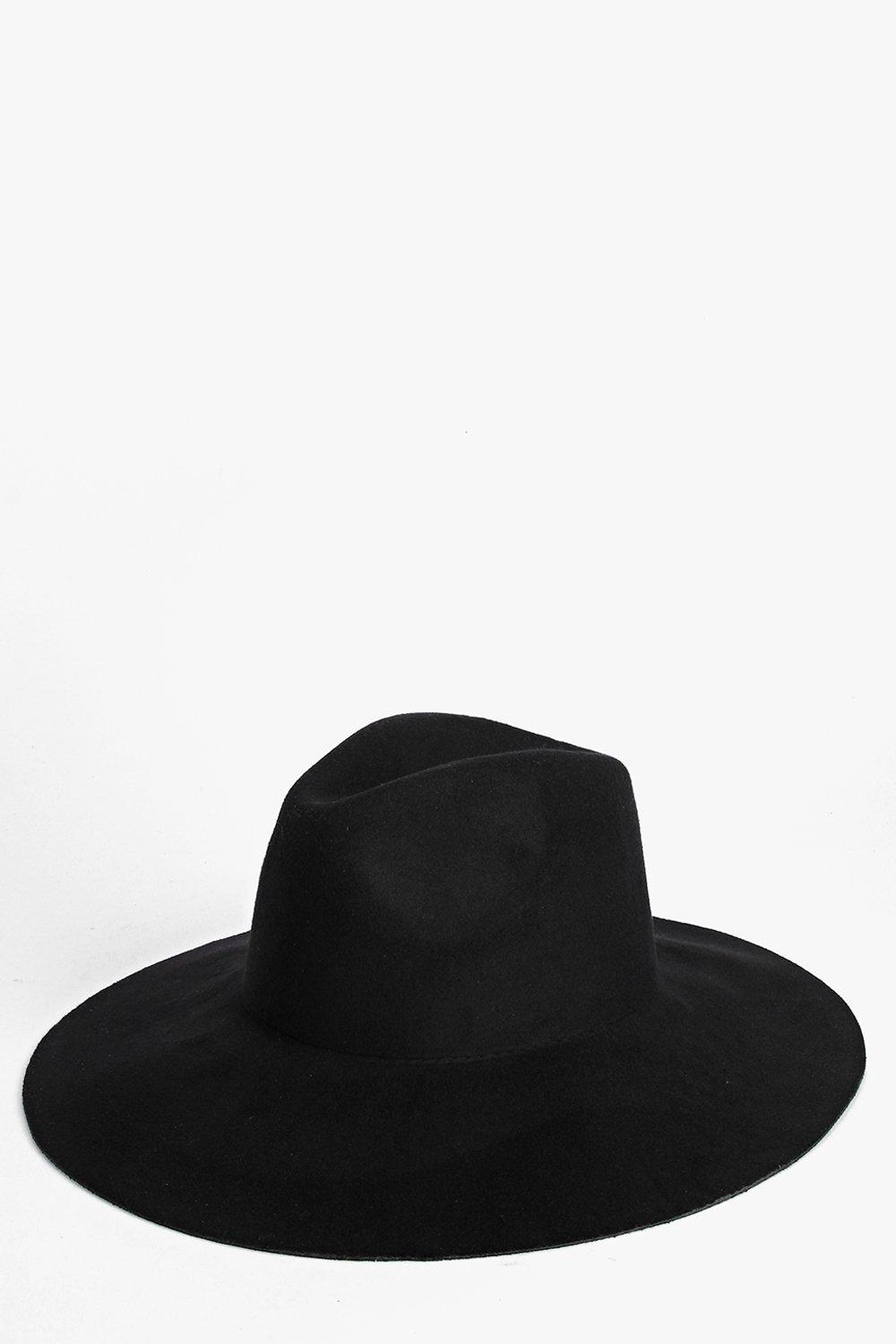 Oversized Floppy Fedora - black - `Add attitude wi
