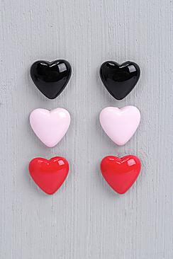 Hannah Love Heart Earring Set