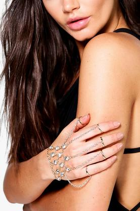 Lacey Diamante Ring Hand Harness
