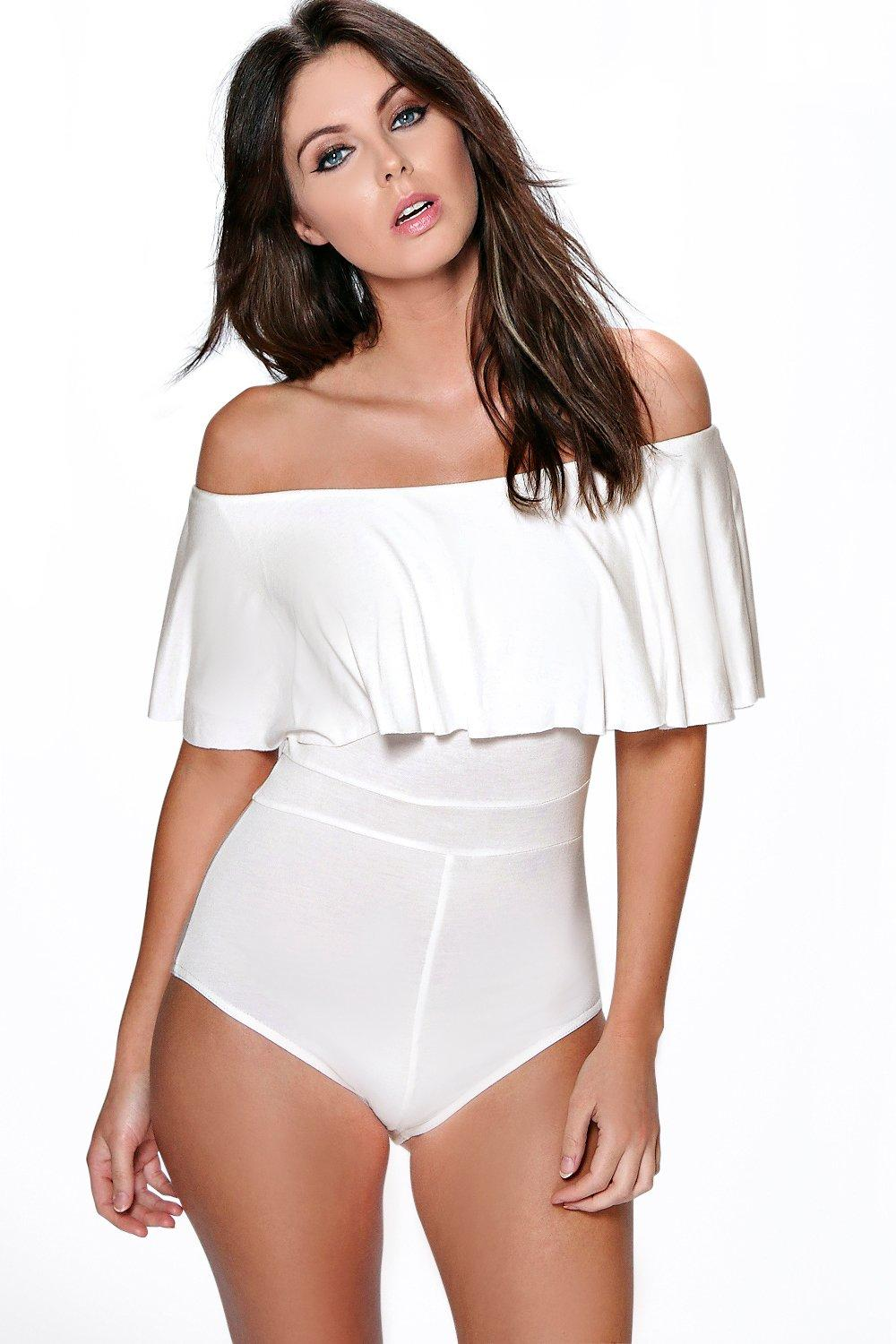 Tanya Off The Shoulder Ruffle Bodysuit