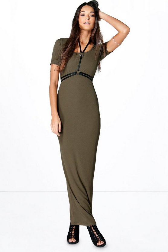 Sophia Square Neck Ribbed Maxi Dress