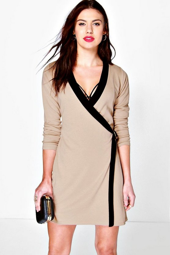 Coreline D-Ring Detail Wrap Dress