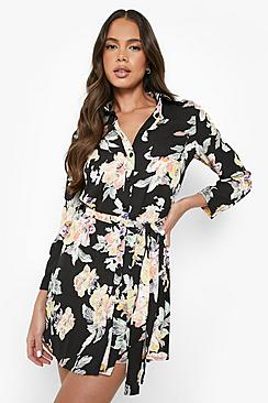 Savannah Floral Shirt Dress