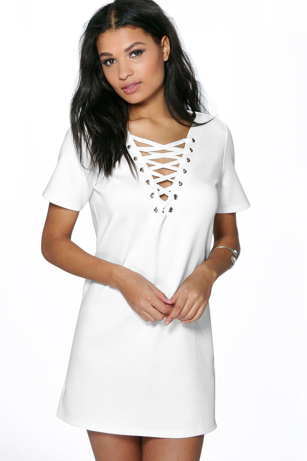 Emily Eyelet Detail Shift Dress