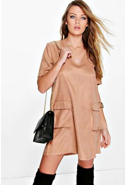 Adriana Lace Up Shift Dress