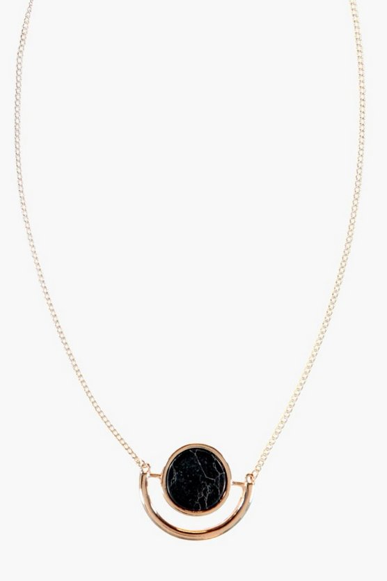 Clara Stone Detail Skinny Necklace