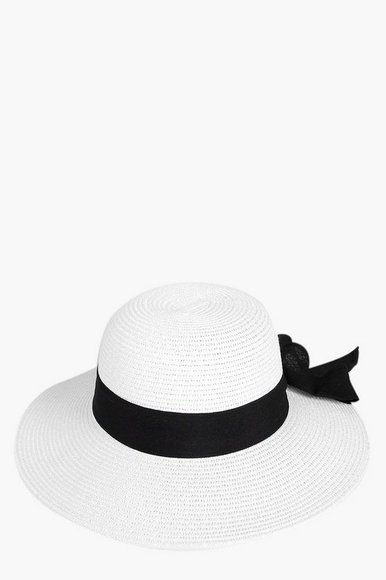 Leah Summer Hat With Ribbon