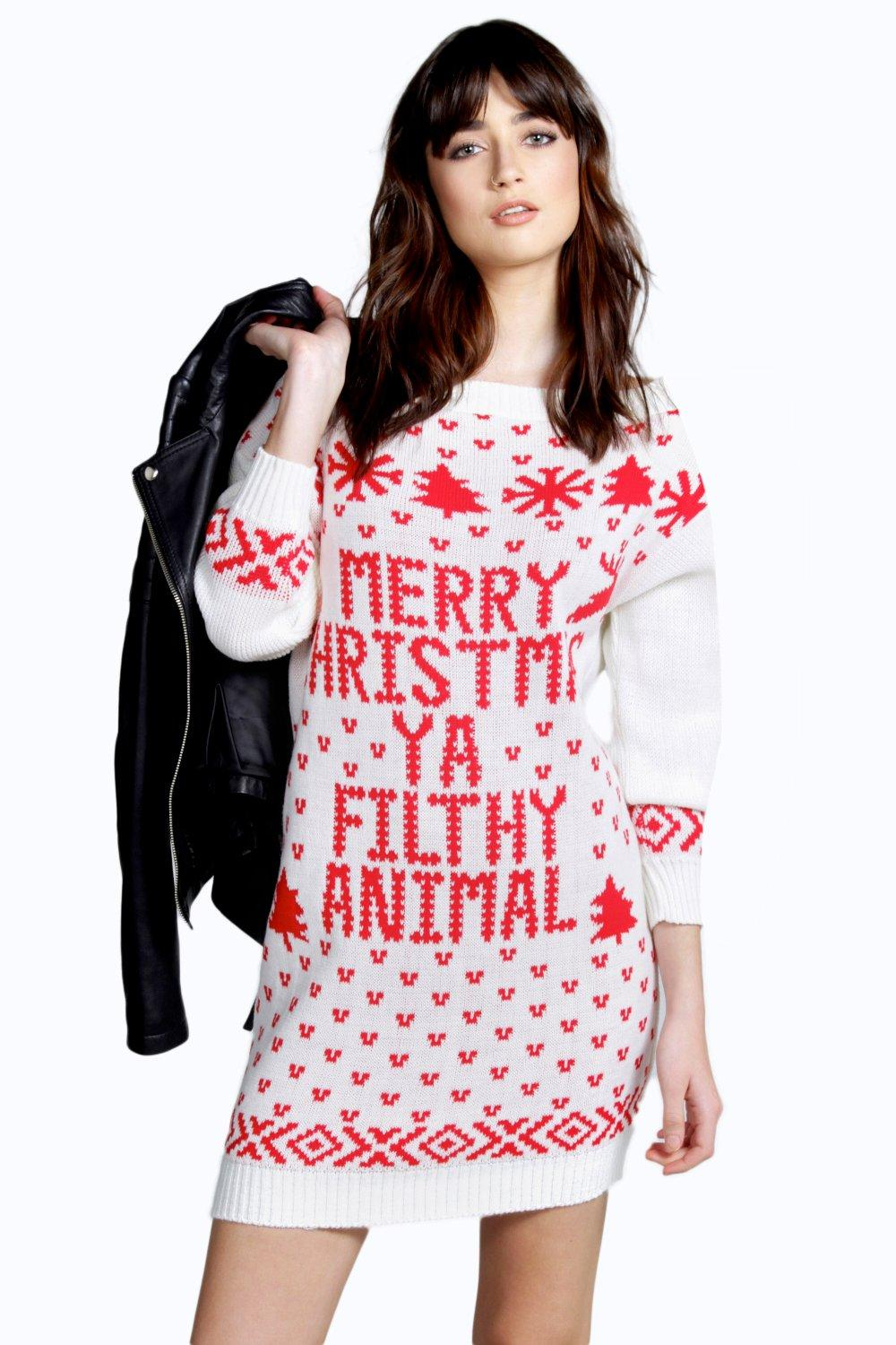 Lara Filthy Animal Christmas Jumper Dress