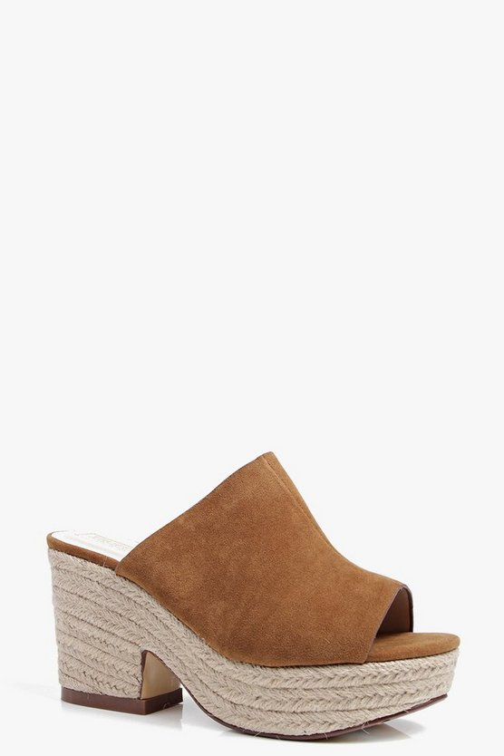 Bella Mule Espadrille Wedge
