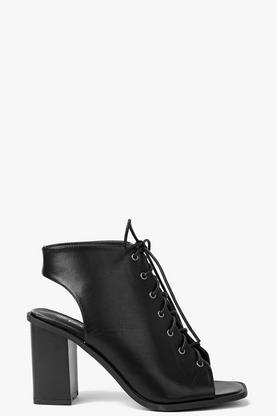 Anna Ghillie Lace Up Block Heel