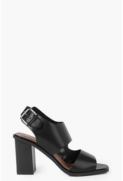 Lauren Asymmetric Block Heel