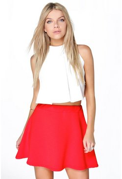 Electra Deep Rib Full Skater Skirt
