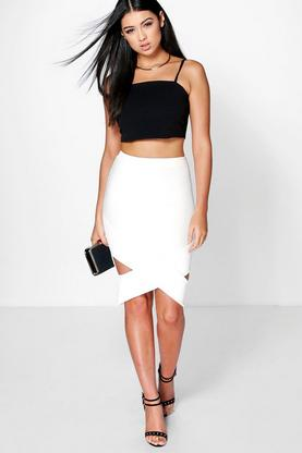 Oriella Origami Hem Pencil Skirt